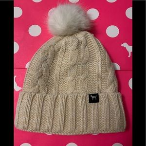 Victoria's Secret Pink Sherpa Lined Beanie